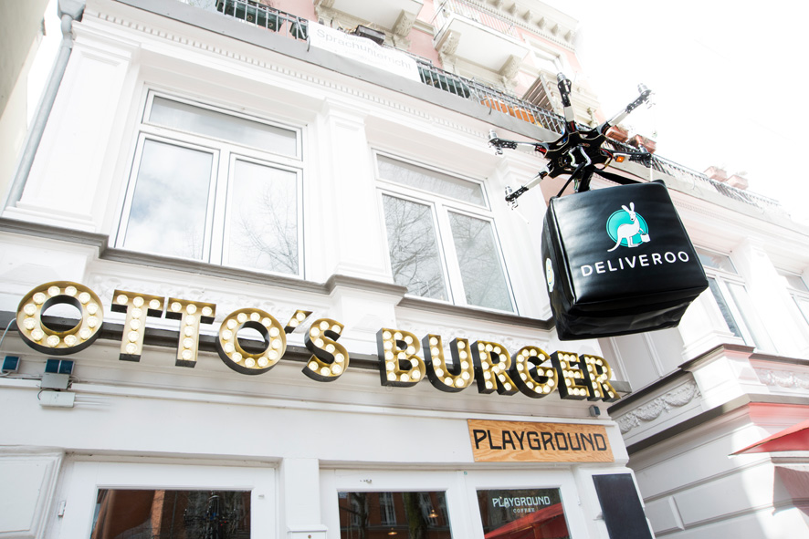 Ottos Burger, Deliveroo, Drohnen