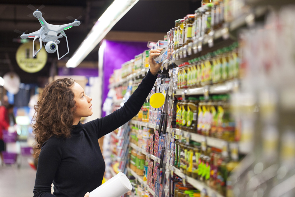 Supermarkt-Drohne, barcoo, Marktjagd