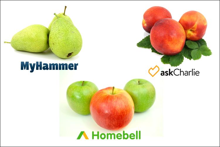 Was ist der Unterschied zwischen Homebell, MyHammer und Ask Charlie?
