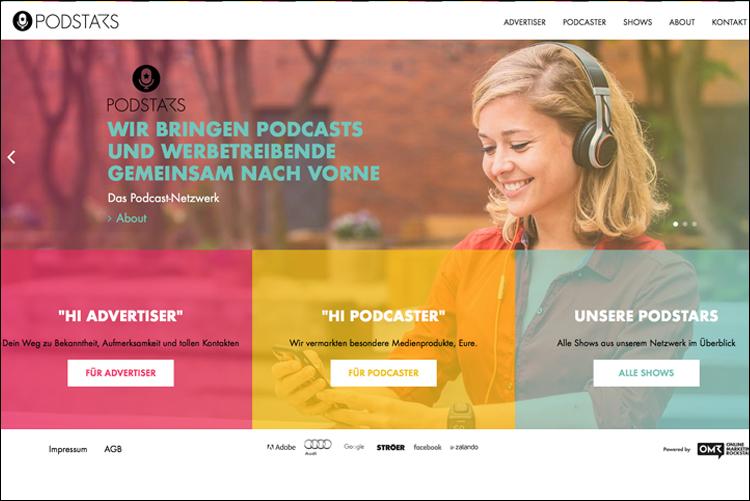 Podstars startet als Vermarkter für Podcasts