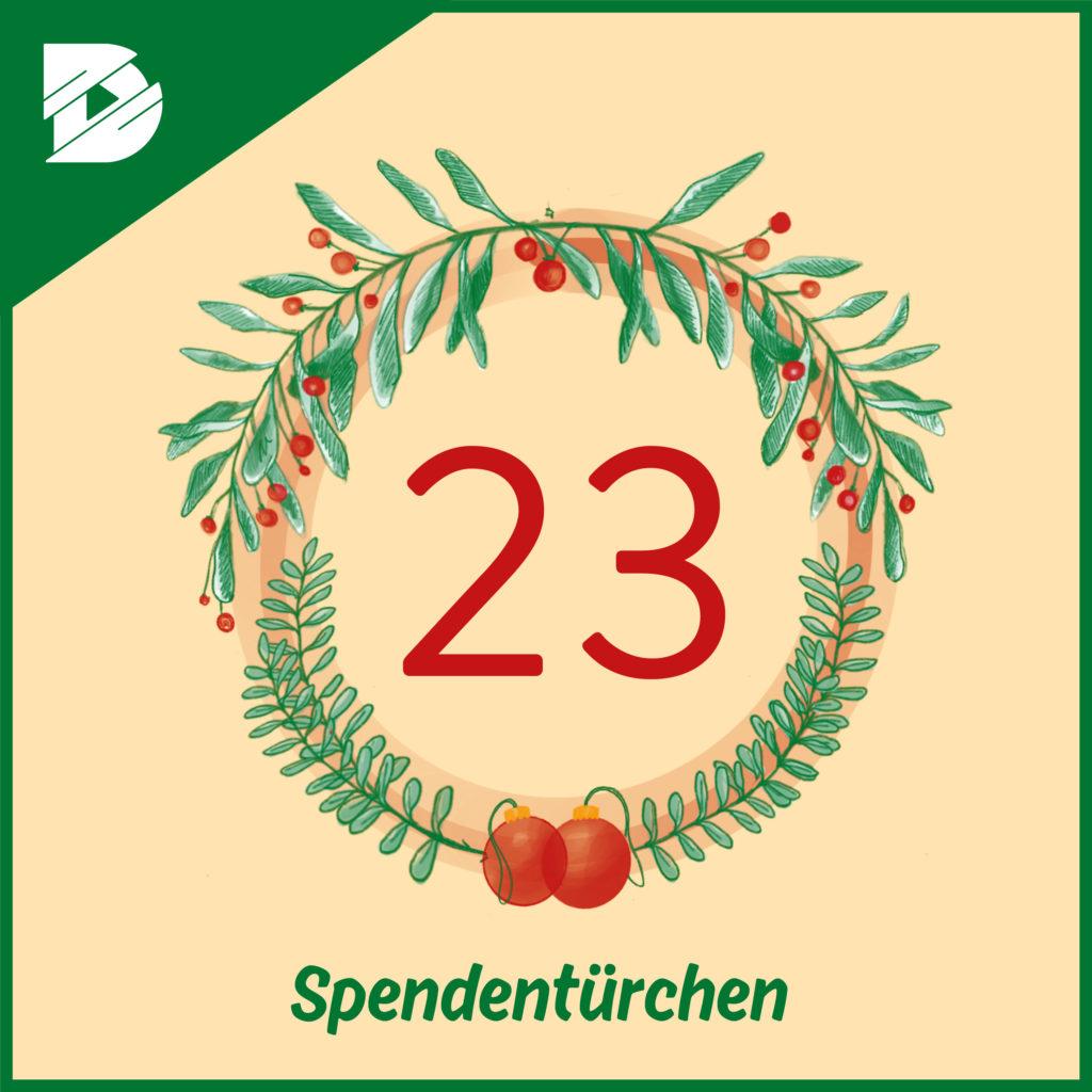 Spendentürchen 23: Marco Dimpker und Manuel Gründel stellen die Björn Schulz Stiftung vor