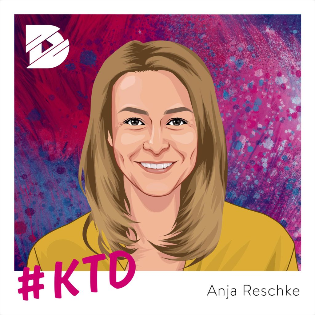 Anja Reschke (NDR-Journalistin) – Immer schön gerade bleiben! |Kunst trifft Digital #24